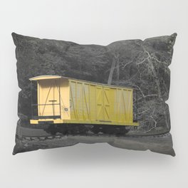 Eleutherian Mills Yellow Boxcar Powder Keg Transport Vintage Rolling Stock Pillow Sham