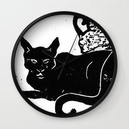 Cleopatra's Cats Wall Clock