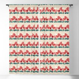 Poppy flowers and bird Blackout Curtain