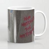 rorschach Mugs featuring Rorschach by JadeJonesArt