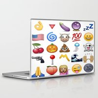 emoji Laptop & iPad Skins featuring Emoji  by rivercbishop