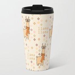 Llama Llama Pattern Travel Mug