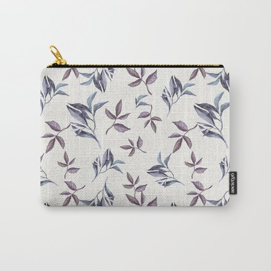 Watercolor cold leaves pattern Carry-All Pouch