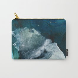 Untamed [2]: a vibrant minimal abstract design in blue gold and white by Alyssa Hamilton Art Carry-All Pouch