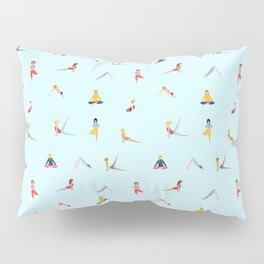 Yoga poses pattern Pillow Sham