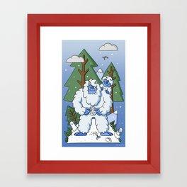 The Winter Yeti Framed Art Print