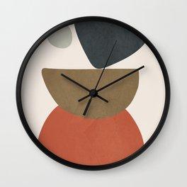 Abstract Balancing Stones Wall Clock