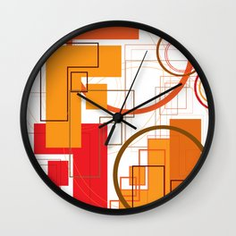 """Typography: Stencil """"F"""" and Adequate Light """"O"""" Wall Clock"""