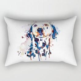 Dalmatian Head Watercolor Portrait Rectangular Pillow
