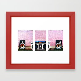 boombox split Framed Art Print