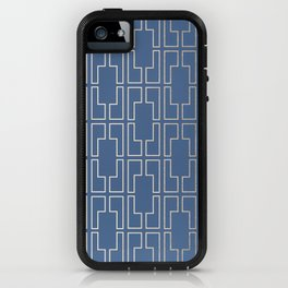 Simply Mid-Century in White Gold Sands and Aegean Blue iPhone Case