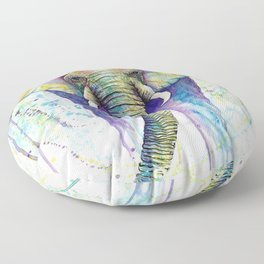 Colorful Elephant Floor Pillow