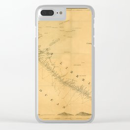 Map Of Liberia 1850 Clear iPhone Case
