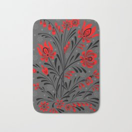 Abstract floral ornament Bath Mat