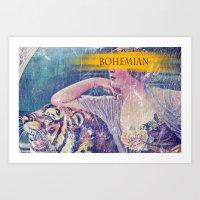 bohemian Art Prints featuring Bohemian by PixelFarmer