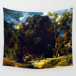 Arnold Bocklin Roman Landscape Wall Tapestry