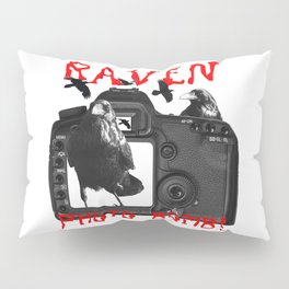 Raven Photo Bomb! Pillow Sham