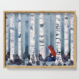 The Birches (in Blue) Serving Tray