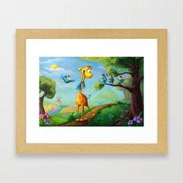 Giraffraf Framed Art Print