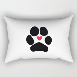 Dog Paw Rectangular Pillow