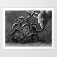 The Fawn and the Turtle Art Print