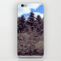 forrest iPhone & iPod Skins featuring Christmas forrest by Shitmonkey
