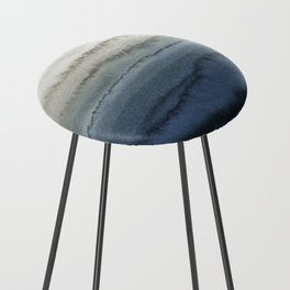 WITHIN THE TIDES - CRUSHING WAVES BLUE Counter Stool