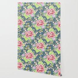Kimono Bouquet Brocade Wallpaper