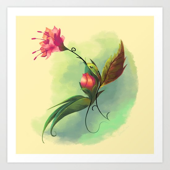 Essence of Nature - Humming Blossom Art Print