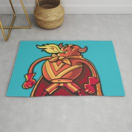 Super hero Flame-man Rug