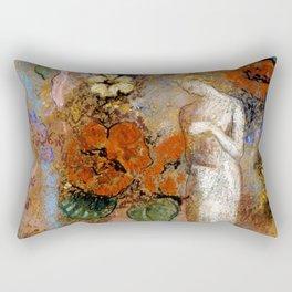 """Odilon Redon """"Pandora"""" Rectangular Pillow"""