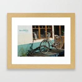 A bicycle in Hongdae Framed Art Print