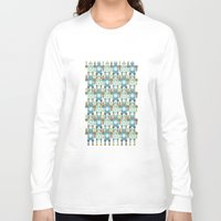 robots Long Sleeve T-shirts featuring robots by Mr. Morris can Meow!