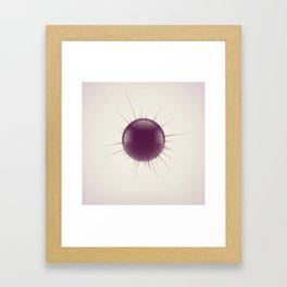 Displaced Sphere Framed Art Print