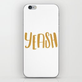Yeash-Gold Typography iPhone Skin