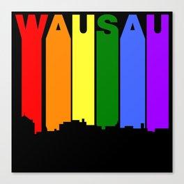 Wausau Wisconsin Gay Pride Rainbow Skyline Canvas Print