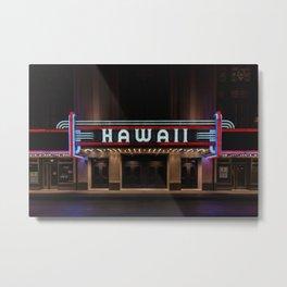 Hawaii Theater Metal Print