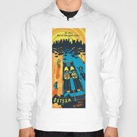 fear and loathing Hoodies featuring THIS IS BAT COUNTRY (Fear and loathing in Gotham City) by SimonCARUSO.com