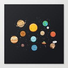 Cute solar system Canvas Print