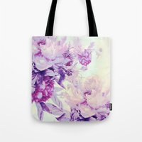 pastel Tote Bags featuring pastel bouquet by clemm