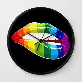 Rainbow Lips | LGBT Pride Wall Clock