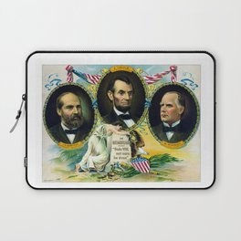 Garfield, Lincoln, and McKinley -- In Memoriam Laptop Sleeve