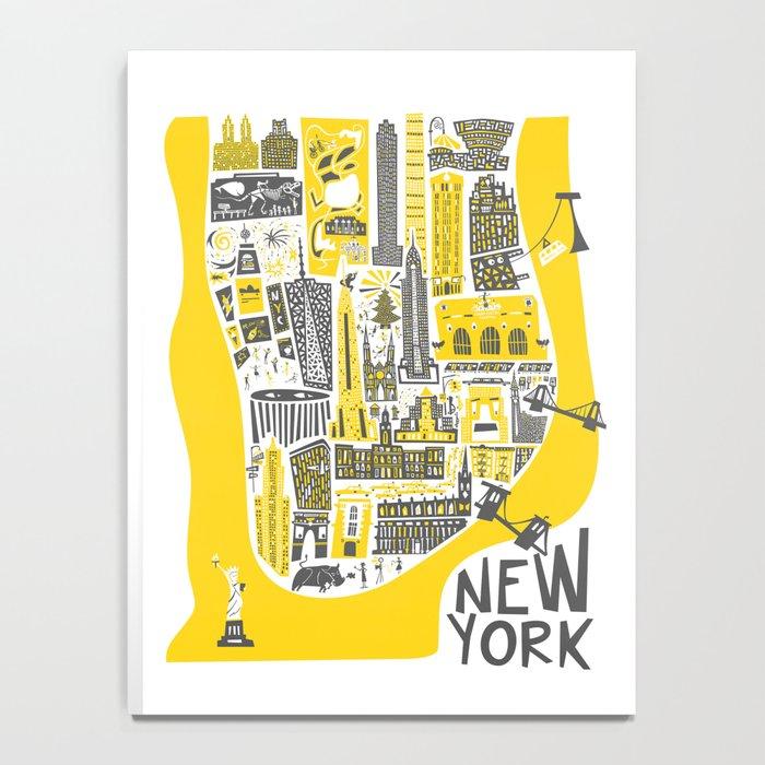 Manhattan New York Map Notebook