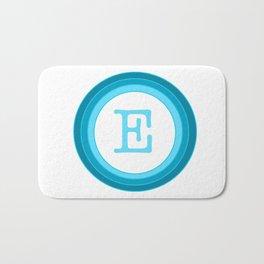 Blue letter E Bath Mat