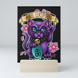 Hail Lucipurr! Mini Art Print