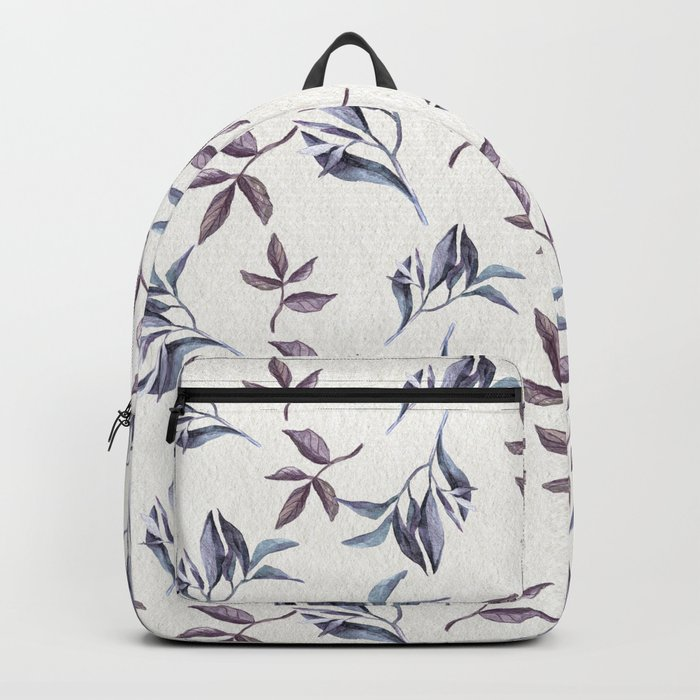 Watercolor cold leaves pattern Backpack