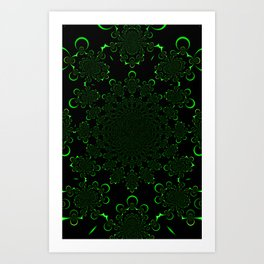 A Kollision of Colliding Tubes Art Print