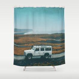 Defender on the Road Shower Curtain