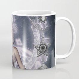 Wonderful steampunk fairy, clocks and gears Coffee Mug