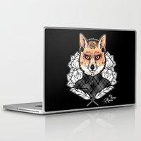 mr fox Laptop & iPad Skins featuring Mr Fox by Miss Cherry Martini